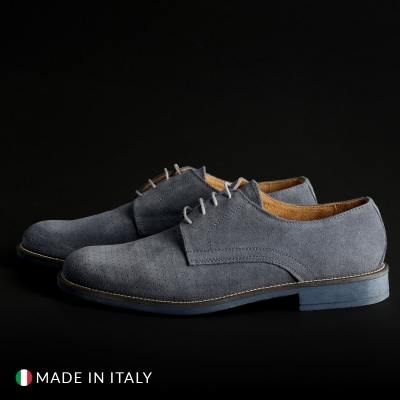 Pantofi siret Sb 3012 06_CAMOSCIOBUCATO Albastru