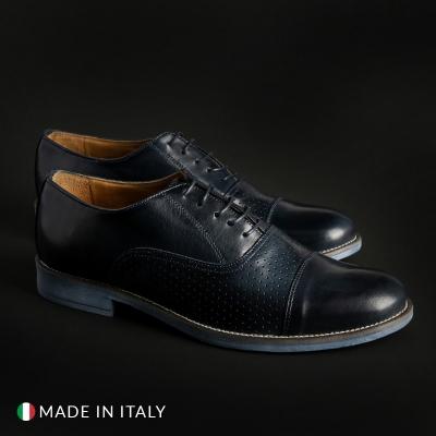 Pantofi siret Sb 3012 1003_CRUSTBUCATO Albastru