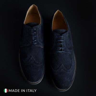Pantofi siret Sb 3012 208_CAMOSCIO Albastru