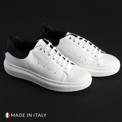 Pantofi sport Duca Di Morrone 4_PELLE Alb