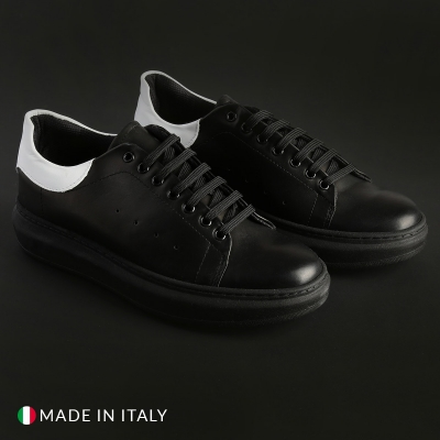 Pantofi sport Duca Di Morrone 4_PELLE Negru