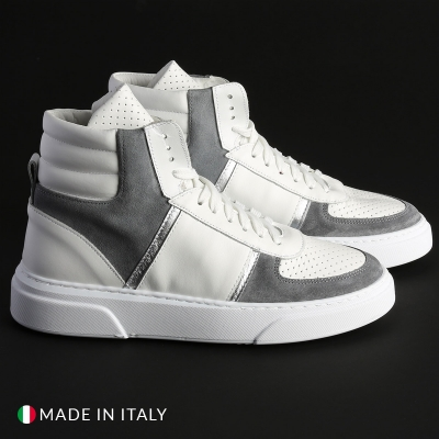 Pantofi sport R21 MIAMI-ALTO_PELLE Alb