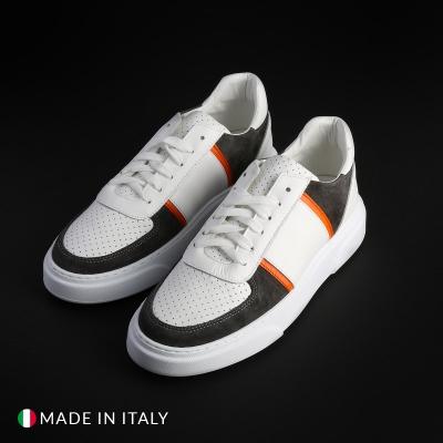 Pantofi sport R21 MIAMI_PELLE Alb