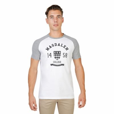 Tricouri Oxford University MAGDALEN-RAGLAN-MM Gri