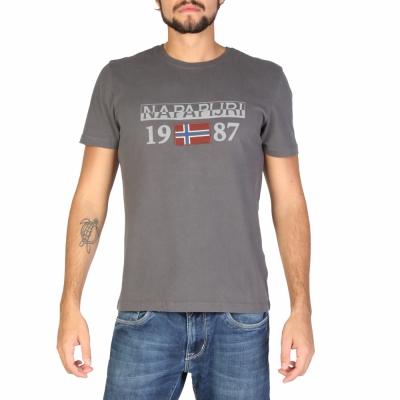 Tricouri Napapijri N0YI8F Gri