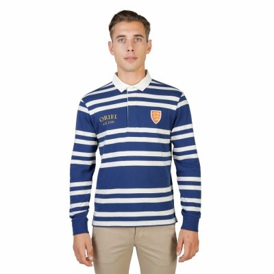 Tricou polo Oxford University ORIEL-RUGBY-ML Albastru