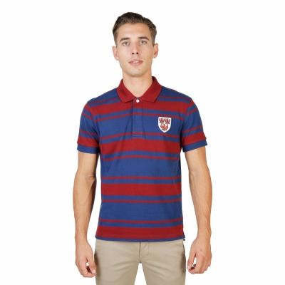 Tricou polo Oxford University QUEENS-RUGBY-MM Rosu