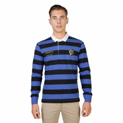 Tricou polo Oxford University TRINITY-RUGBY-ML Negru