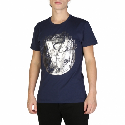 Tricouri Versace Jeans B3GSB76S_36610 Albastru