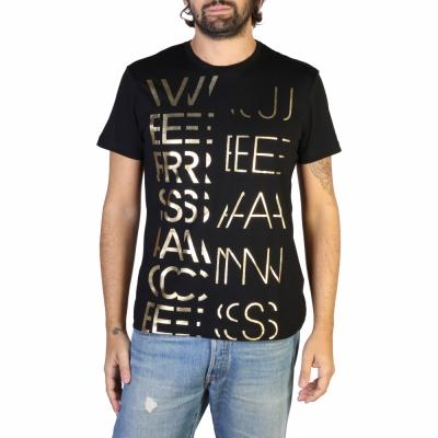 Tricouri Versace Jeans B3GTB74E_36590 Negru