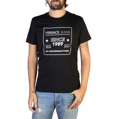 Tricouri Versace Jeans B3GTB76E_36610 Negru