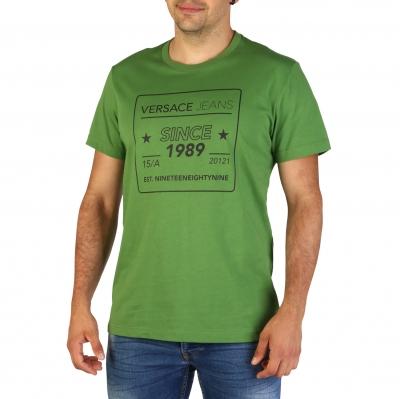 Tricouri Versace Jeans B3GTB76E_36610 Verde