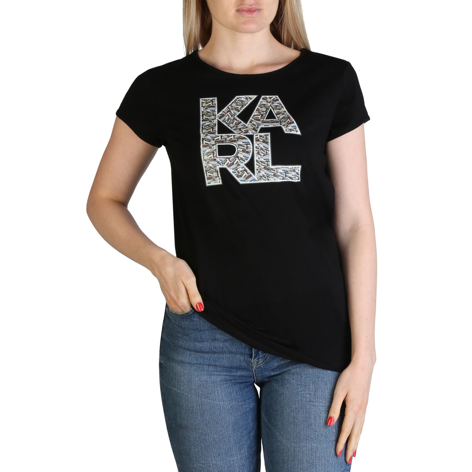 Mergi la Tricouri Karl Lagerfeld KL21WTS01 Negru